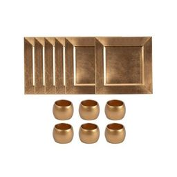 Tableware Set - 12-Pack Square Charger Plates and Napkin Rings, Dining Table Decor, Perfect for P...   Target