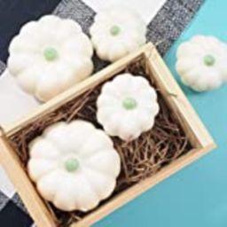 White Pumpkins Handmade Soap, Set of 5 Modern Farmhouse Decorations, Seasonal Rustic Fall Decor   Amazon (US)