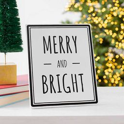 Merry and Bright Easel Plaque   Kirkland's Home