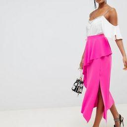 ASOS DESIGN midi skirt with asymmetric hem | ASOS (Global)