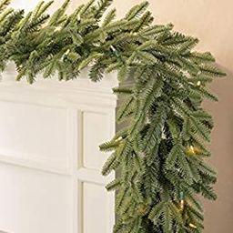 Balsam Hill Fraser Fir Prelit Artificial Christmas Garland, 6 Feet, LED Clear Lights | Amazon (US)
