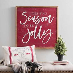 Tis the Season To Be Jolly Wooden Plaque | Kirkland's Home