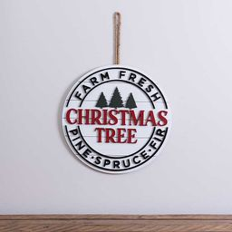 New!Round Farm Fresh Christmas Tree Plaque | Kirkland's Home