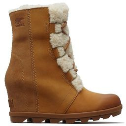 Joan Wedge II Shearling-Lined Leather Waterproof Boots | Saks Fifth Avenue OFF 5TH
