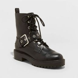Target/Shoes/Women's Shoes/Boots/Ankle BootsWomen's Braelyn Buckle Combat Boots - A New Day™...   Target