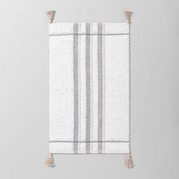 Bath Rug Bold Stripes Tonal Cream - Hearth & Hand™ with Magnolia | Target