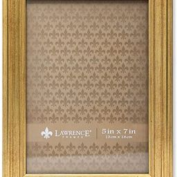 Lawrence Frames Sutter Burnished Picture Frame, 5 by 7-Inch, Gold | Amazon (US)