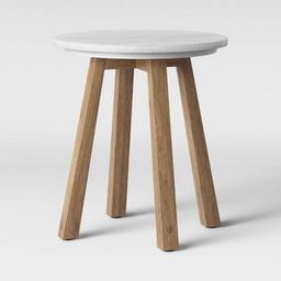 Norwich Marble Top Accent Table with Wood Base White - Threshold™ | Target