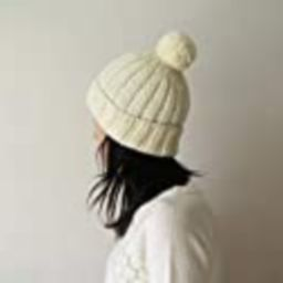 Hand Knitted Chunky Hat in Cream - Beanie with Pom Pom - Seamless - Wool Blend - Made to Order   Amazon (US)