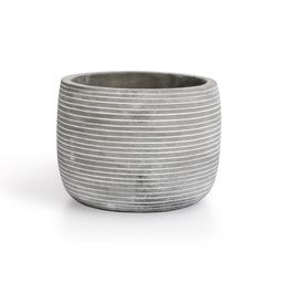 Mainstays Grey and White Cement Planter | Walmart (US)