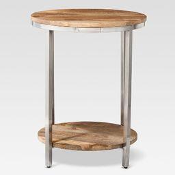 Berwyn Large Round end table Metal and Wood Brown - Threshold™   Target