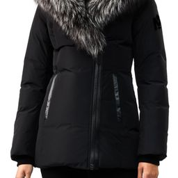 Hooded Down Parka with Inset Bib & Genuine Fox Fur Trim   Nordstrom
