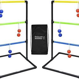 GoSports Pro Grade Ladder Toss Indoor/Outdoor Game Set with 6 Soft Rubber Bolo Balls, Travel Carr... | Amazon (US)