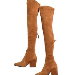 'Marlo' Tan Over The Knee Suede Leather Boots | Goodnight Macaroon