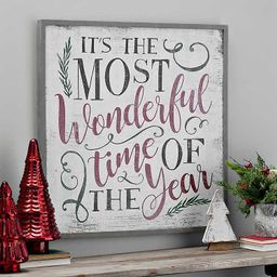 Most Wonderful Time Of The Year Framed Wall Plaque | Kirkland's Home