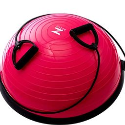 ZELUS Balance Ball Trainer Half Yoga Exercise Ball with Resistance Bands and Foot Pump for Yoga F... | Amazon (US)