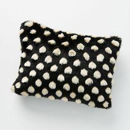 Polka Dot Faux Fur Pillow | Anthropologie (US)