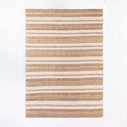 Riverton Hand Woven Striped Area Rug Tan - Threshold™ designed with Studio McGee | Target