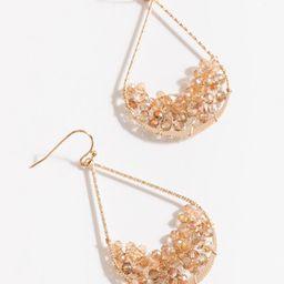 Ella Beaded Teardrop Earrings   Francesca's Collections