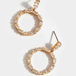 Charli CZ Baguette Circle Earrings   Francesca's Collections