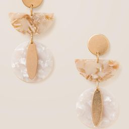 Nela Geo Marbled Resin Earrings   Francesca's Collections