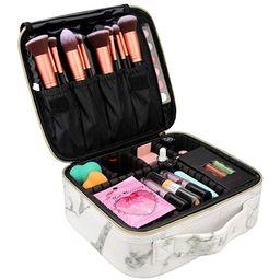 Chomeiu Marble Makeup Case, Marble Cosmetic Bag Marble Makeup Bag Waterproof for Cosmetics Tools ... | Amazon (US)