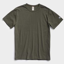 Champion Basic Tee in Olive Drab | Todd Snyder