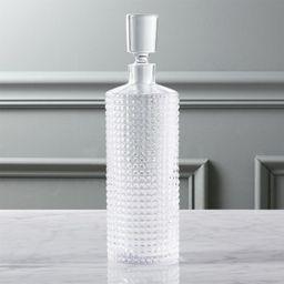 Stud Glass Liquor Decanter + Reviews | CB2 | CB2