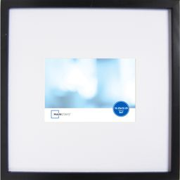 Mainstays 12.25x12.25 Matted to 5x7 Linear Frame, Black | Walmart (US)
