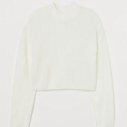 Knit Mock-turtleneck Sweater   H&M (US)