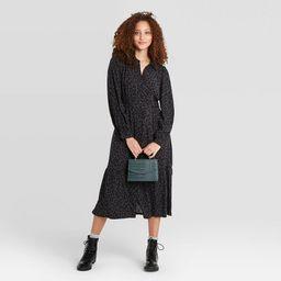 Women's Long Sleeve Tie Waist Shirtdress - A New Day™ | Target