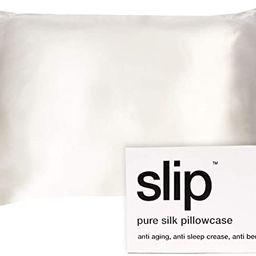 SLIP King Silk Pillowcase, White - Slipsilk Pure Mulberry 22 Momme 100% Silk Pillow Case - Anti-A... | Amazon (US)