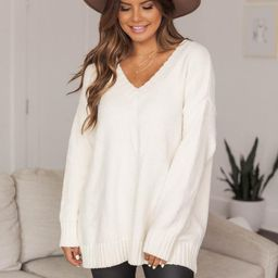 Without A Doubt Ivory Sweater | The Pink Lily Boutique