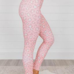 Run To You Animal Print Pink Leggings | The Pink Lily Boutique
