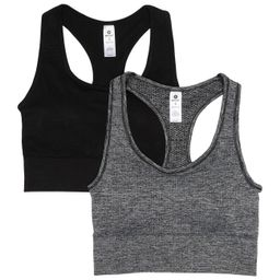 Ribbed Seamless Sports Bra - Pack of 2 | Nordstrom Rack