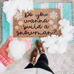 Do You Wanna Build a Snowman Snowflake Holiday Doormat, Bloom Into Beautiful Holiday Welcome Mat,... | Etsy (US)