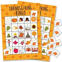 Thanksgiving Bingo Game - 24 Players | Amazon (US)