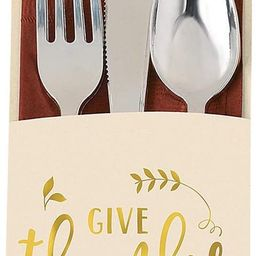 Give Thanks Cutlery Holders, 2 Packs, 24 Count Total | Amazon (US)