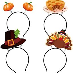Thanksgiving Turkey Headband Decorations - Fall Pumpkin Head Boppers Party Favors Accessories Sup... | Amazon (US)