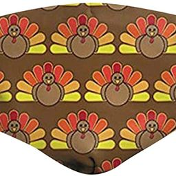 Thanksgiving Face_Masks for Adults, Turkey Cloth Face Coverings with Filter Pocket Washable Reusa... | Amazon (US)