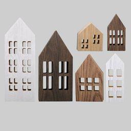 6ct Wood Houses Multi-Finish - Bullseye's Playground™   Target