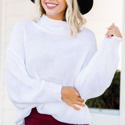 All Is Fair Ivory White Waffle Sweater   The Mint Julep Boutique
