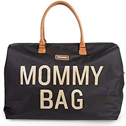 CHILDHOME Mommy Bag Big - Functional Large Baby Diaper Travel Bag for Baby Care. (Black Gold) | Amazon (US)