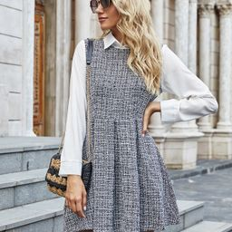 2 In 1 Tweed Dress | SHEIN
