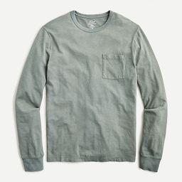 Garment-dyed slub cotton long-sleeve T-shirt | J.Crew US