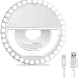 Selfie Ring Light, XINBAOHONG Rechargeable Portable Clip-on Selfie Fill Light with 36 LED for iPh...   Amazon (US)