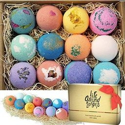 LifeAround2Angels Bath Bombs Gift Set 12 USA made Fizzies, Shea & Coco Butter Dry Skin Moisturize... | Amazon (US)
