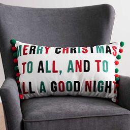 New!Merry Christmas Pom Pom Pillow | Kirkland's Home