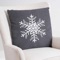 New!Charcoal Snowflake Velvet Pillow | Kirkland's Home