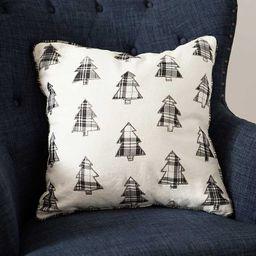 New!Black and Gray Buffalo Check Trees Pillow   Kirkland's Home